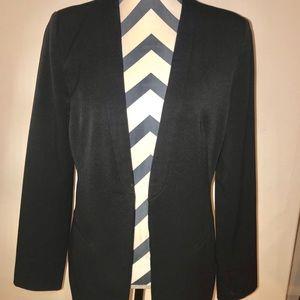 Black blazer with thin lapel